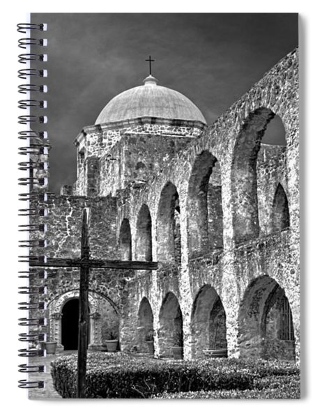 Mission San Jose Arches Bw Spiral Notebook