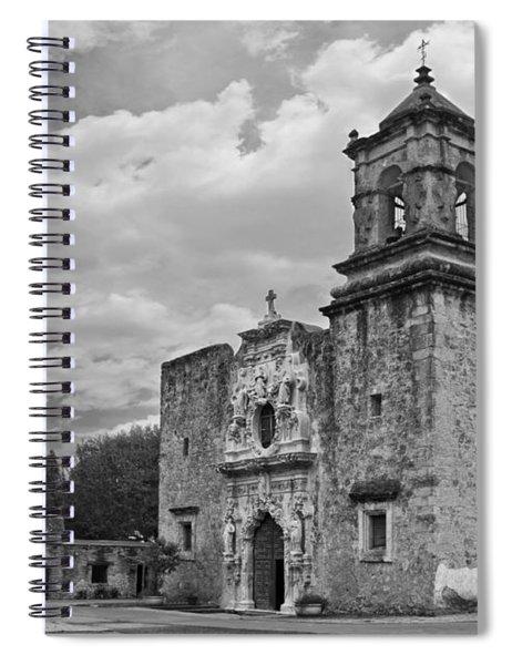 Mission San Jose Bw Spiral Notebook