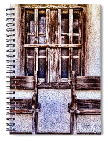 Mission Soledad Window Seating By Diana Sainz Spiral Notebook