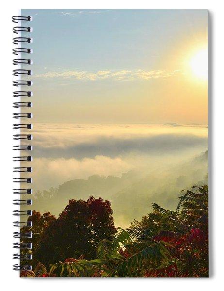 Mississippi River Fog Spiral Notebook