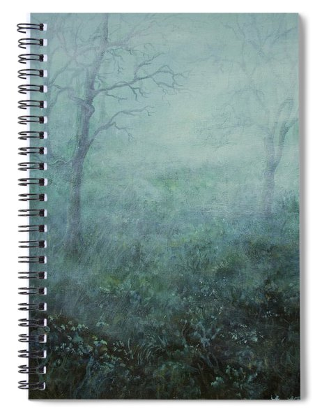 Mist On The Meadow Spiral Notebook