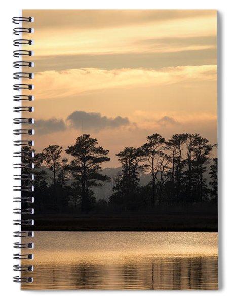 Misty Island Of Assawoman Bay Spiral Notebook