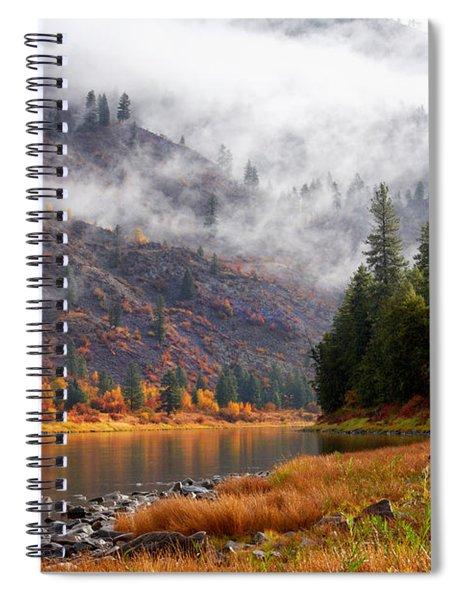 Misty Montana Morning Spiral Notebook