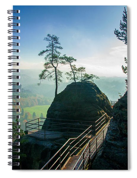 Misty Sunrise On Neurathen Castle Spiral Notebook