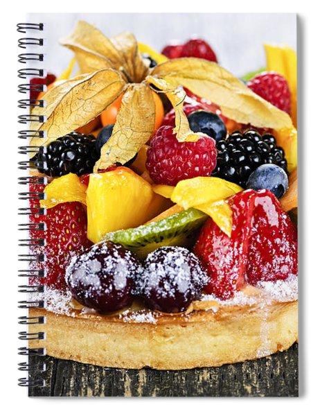 Mixed Tropical Fruit Tart Spiral Notebook