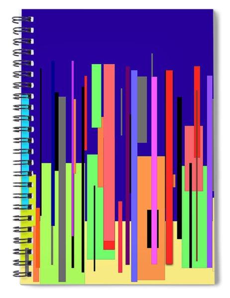 Modern Cityscape Spiral Notebook