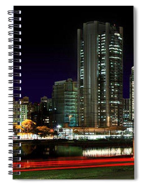 Modern Sao Paulo Skyline Near Brooklin District And Stayed Bridge Spiral Notebook