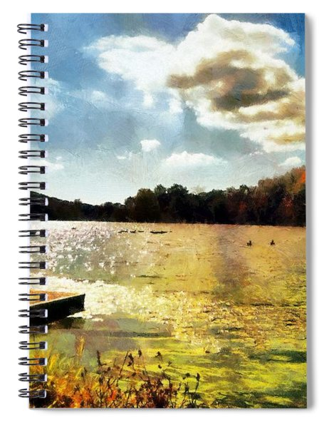 Mohegan Lake Gold Spiral Notebook
