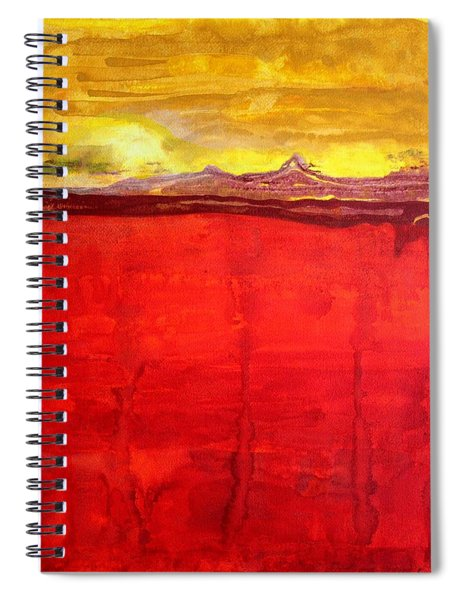 Mojave Dawn Original Painting Spiral Notebook