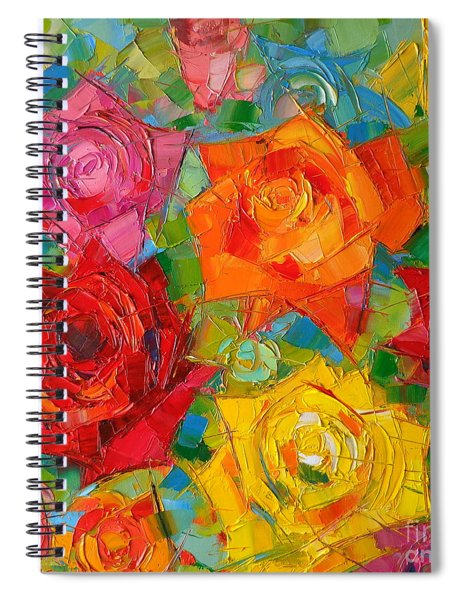 Mon Amour La Rose Spiral Notebook