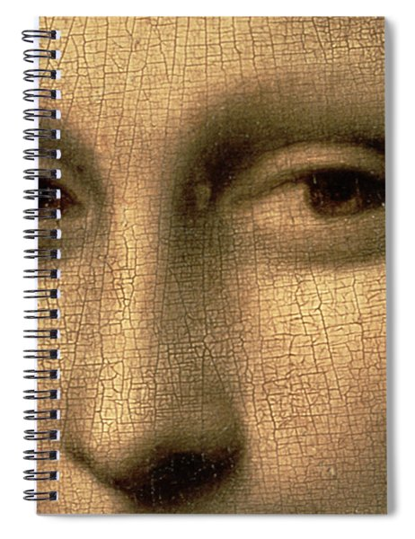 Mona Lisa    Detail Spiral Notebook