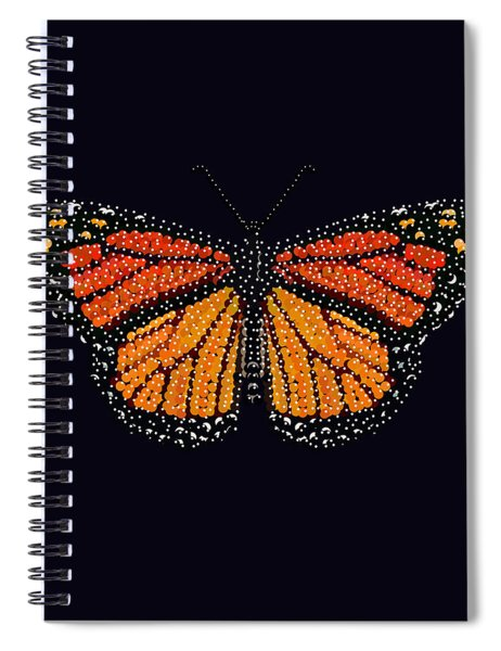 Monarch Butterfly Bedazzled Spiral Notebook