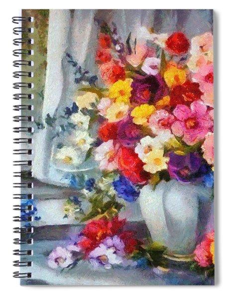 Monet Floral Edged Spiral Notebook