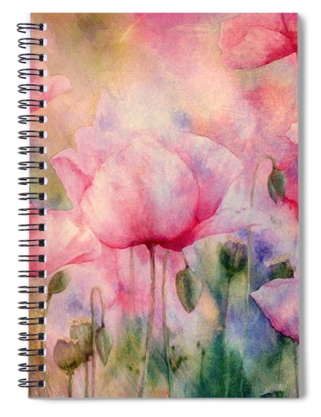 Monet's Poppies Vintage Warmth Spiral Notebook