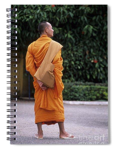Monk Phnom Penh Cambodia Spiral Notebook