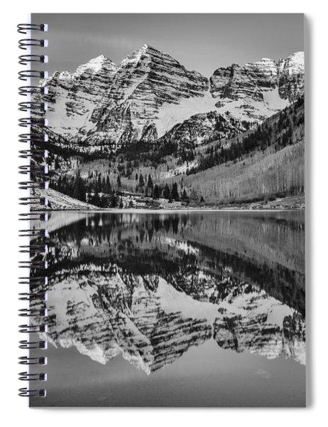 Monochrome Maroon Spiral Notebook