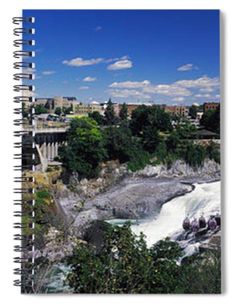 Monroe Street Bridge With City Spiral Notebook
