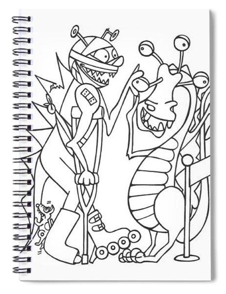 Monster  Queue Spiral Notebook