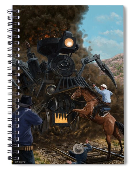 Monster Train Attacking Cowboys Spiral Notebook