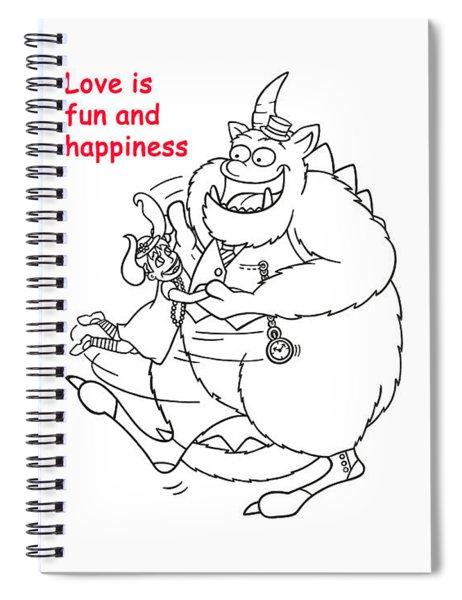 Monster Valentine Spiral Notebook