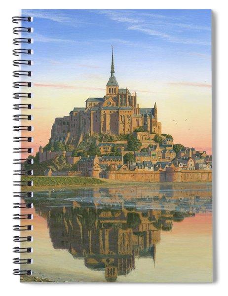 Mont Saint-michel Morn Spiral Notebook