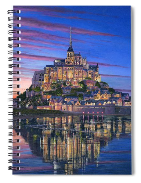 Mont Saint-michel Soir Spiral Notebook