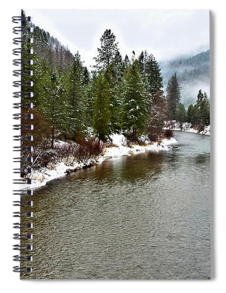 Montana Winter Spiral Notebook