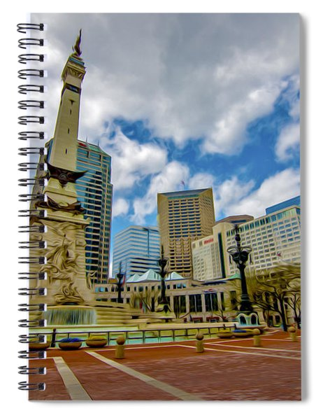 Monument Circle Indianapolis Wide Spiral Notebook