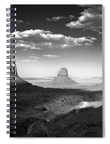 Monument Valley In Black And White Spiral Notebook