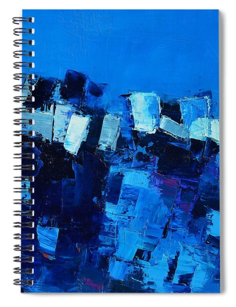 Mood In Blue Spiral Notebook