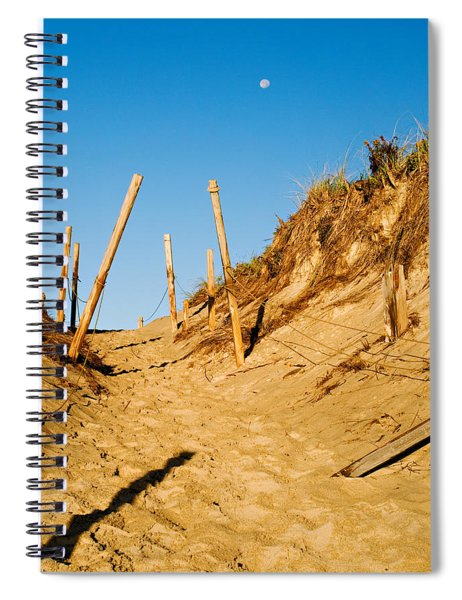 Moon And Dunes Spiral Notebook