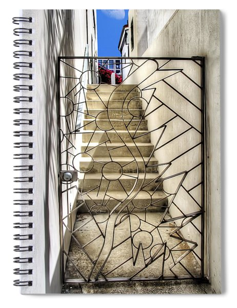 Moon And Gate Spiral Notebook