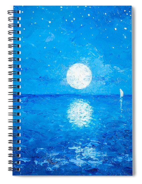 Moon And Stars Spiral Notebook