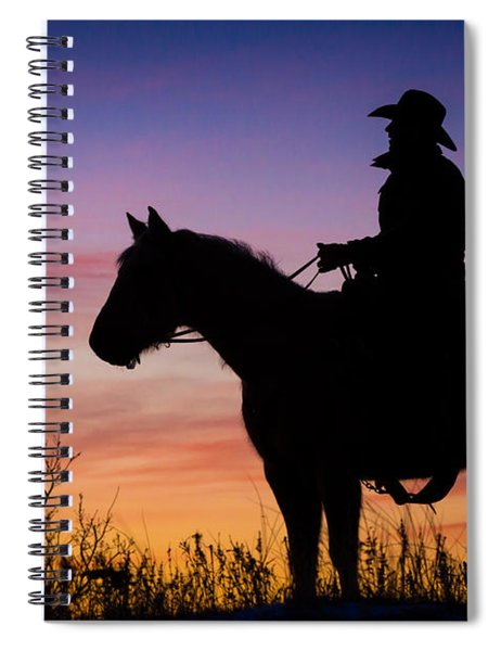 Moon On The Range Spiral Notebook
