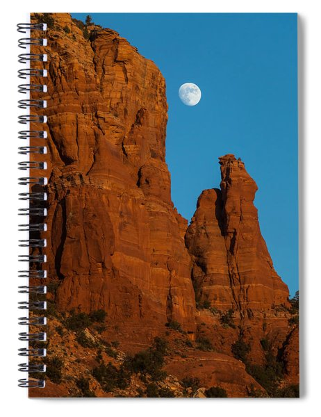 Spiral Notebook featuring the photograph Moon Over Chicken Point by Ed Gleichman