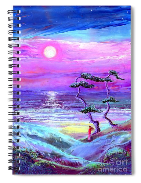 Moon Pathway,seascape Spiral Notebook