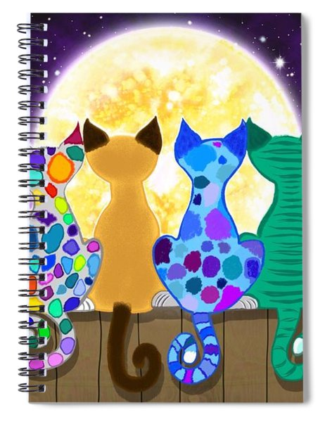 Moon Shadow Meow Spiral Notebook