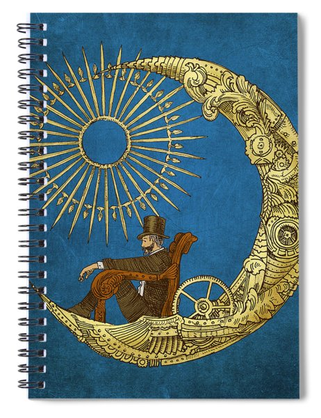 Moon Travel Spiral Notebook