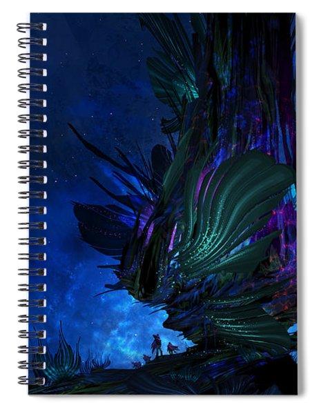 Moon Tree Hills Spiral Notebook