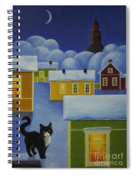 Moonlight Cat Spiral Notebook