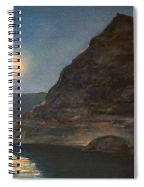 Moonlight On Pyramid Lake Spiral Notebook