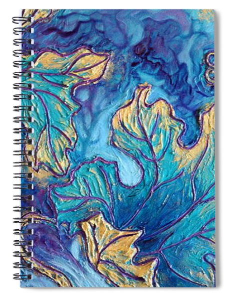 Spiral Notebook featuring the painting Moonlight On The Vine by Sandi Whetzel
