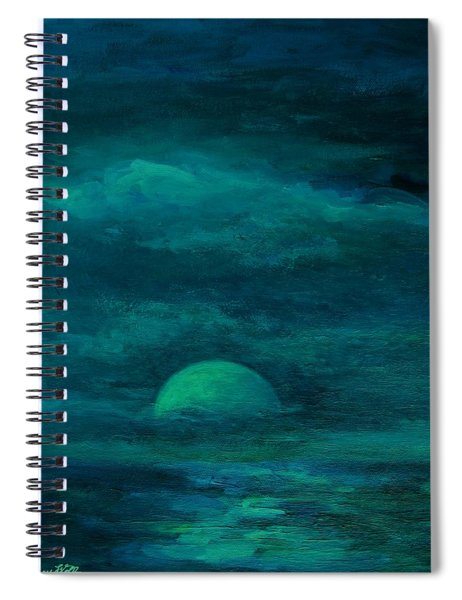 Moonlight On The Water Spiral Notebook