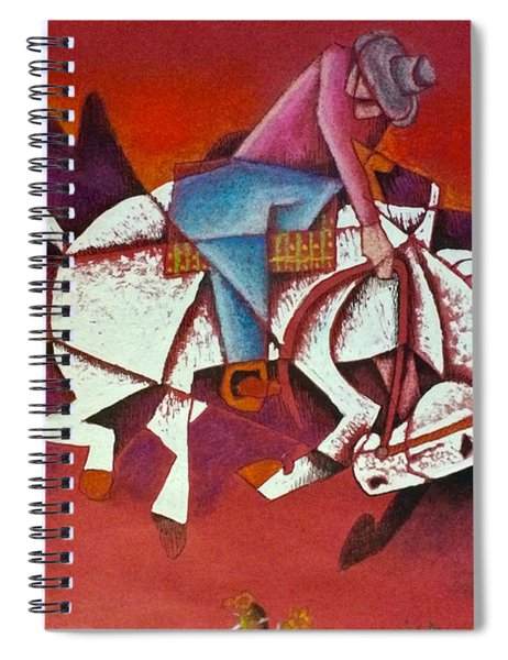 Moonlight Ride Spiral Notebook