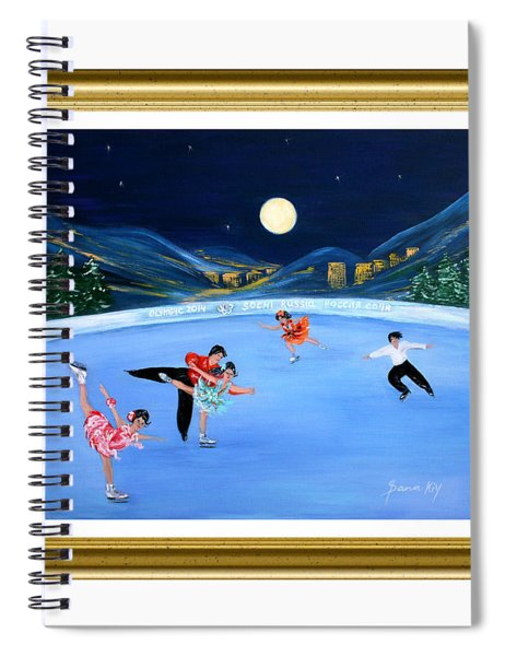 Moonlight Skating. Inspirations Collection. Card Spiral Notebook