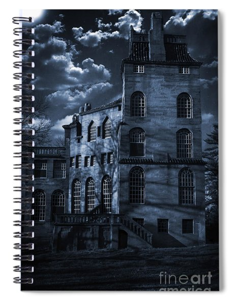 Moonlit Fonthill Spiral Notebook