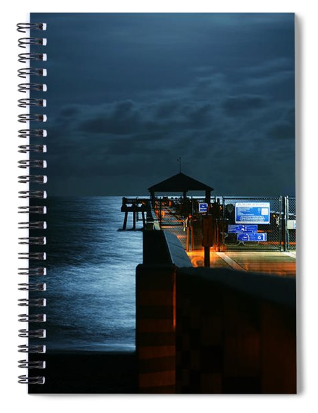 Moonlit Pier Spiral Notebook