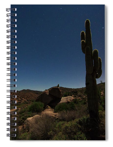 Moonlit Saguaro Spiral Notebook