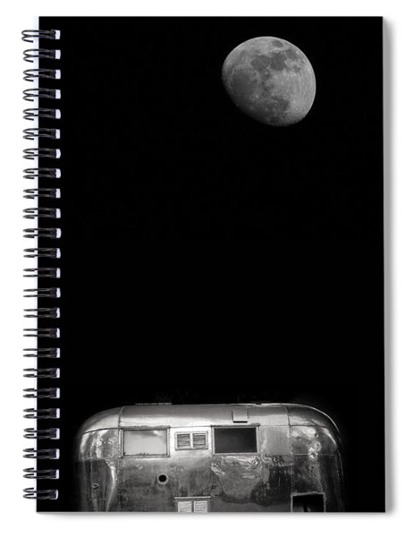 Moonrise Over Airstream Spiral Notebook