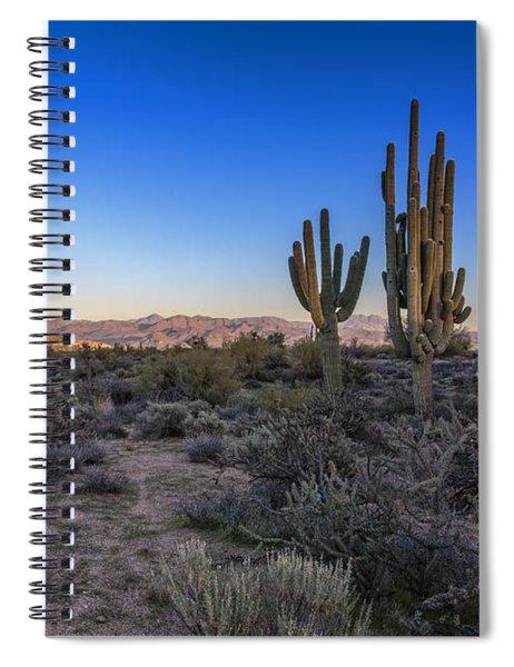 Moonrise Over Saguaro Spiral Notebook